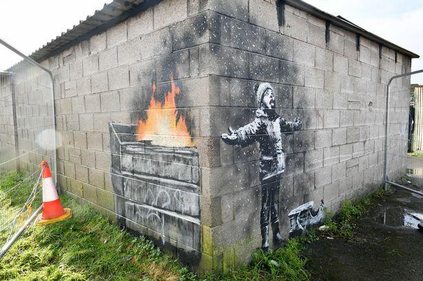 image of Banksy mural